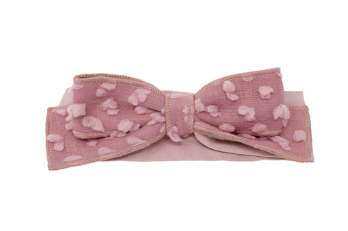 Mauve Dotted Wool Baby Band