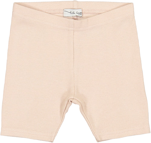 Lil Legs Nude Pink Ribbed Shorts