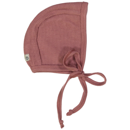 Dusty Berry Waffle Bonnet By Analogie