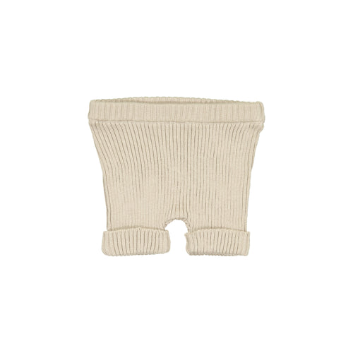 Lil Legs Sand Ribbed Knit Shorts