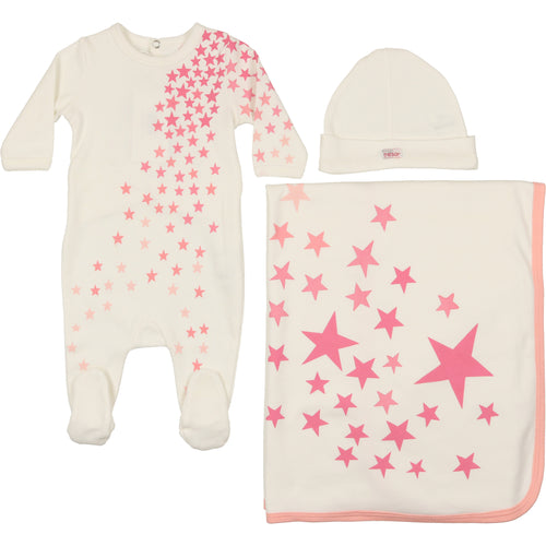Mon Tresor Stars by Starry Nights Set - White with Pink