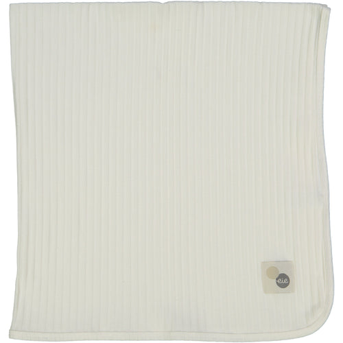 Winter White Wide Ribbed Blanket By Analogie