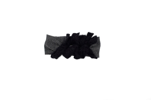 Black Multi Fuzz Bow Baby Band
