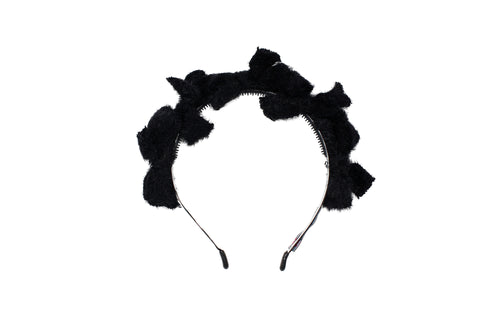 Black Multi Bow Fuzz Headband