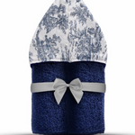 Winx+Blinx Navy Toile Hooded Towel