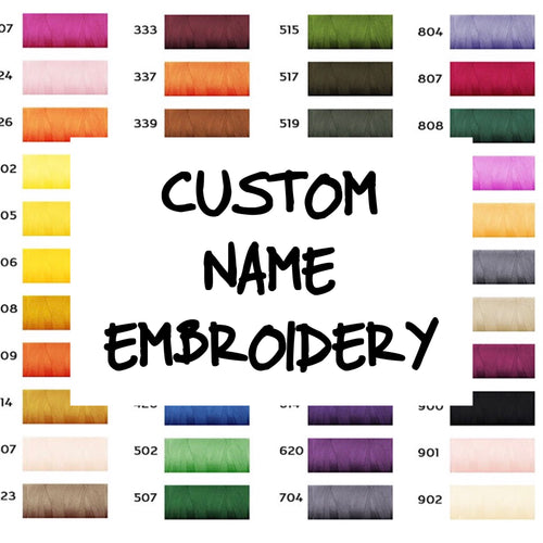 Custom Name Embroidery