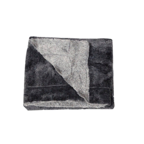 Zandino Grey Fur Blanket
