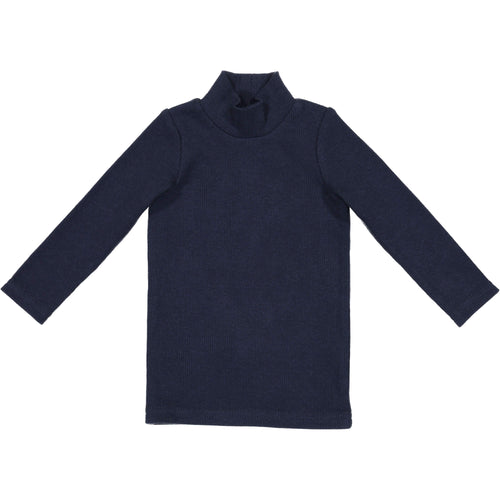 Lil Legs Navy Ribbed Turtleneck