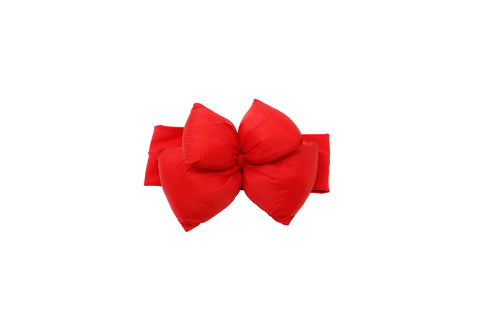 Red Puffer Bow Baby Band