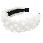 Winter White Dotted Wool Flat Headband