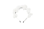 Winter White Multi Bow Fuzz Headband
