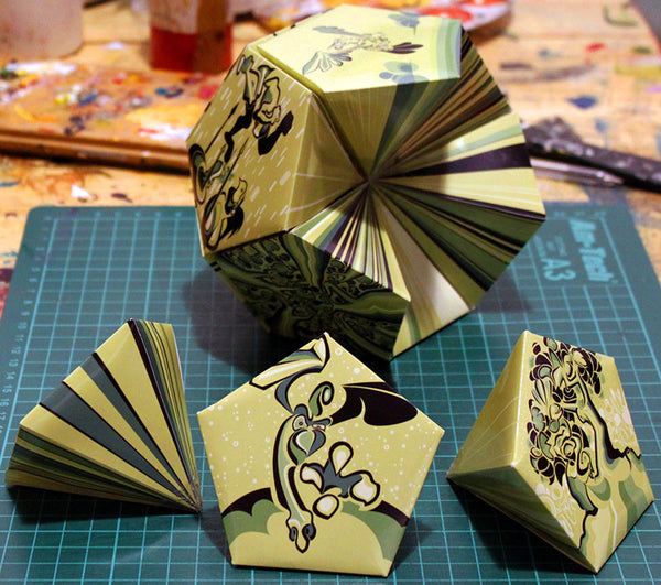 Sectioned Dodecahedron Fold Kit