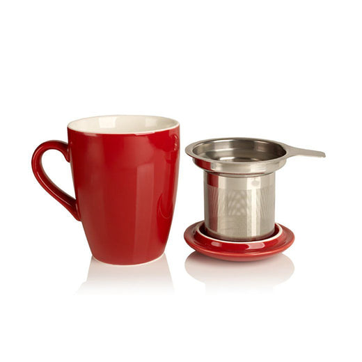 Adagio Teas Tea Makers Barn Red Adagio Teas 12 oz Porcelain Cup with Stainless Steel Infuser JL-Hufford