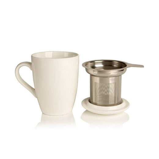 Adagio Teas Tea Makers White Adagio Teas 12 oz Porcelain Cup with Stainless Steel Infuser JL-Hufford