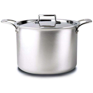 All-Clad Stockpots & Soup Pots 12 Qt. All-Clad d5 Brushed Stainless Stockpot JL-Hufford