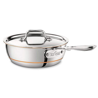 All-Clad Saute & Sauteuse Pans 2 Qt. All-Clad Copper Core Saucier Pan JL-Hufford