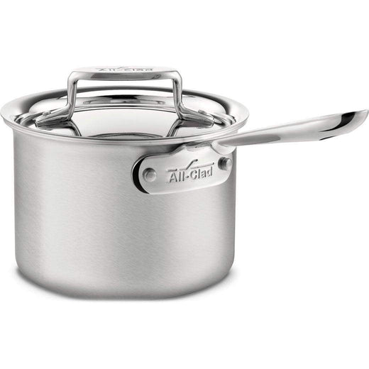 All-Clad Saucepans 2 Qt. All-Clad d5 Brushed Stainless Sauce Pan with Lid JL-Hufford