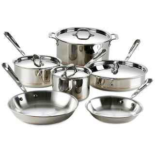 All-Clad Cookware Sets All-Clad Copper Core 10 Piece Cookware Set JL-Hufford