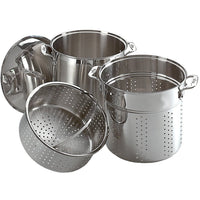 All-Clad Specialty Cookware All-Clad Stainless Steel 12 Qt Multi-cooker Pot JL-Hufford