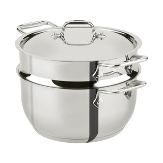 All-Clad Steamers & Double Boilers All-Clad Stainless Steel 5 Qt Steamer Pot with Insert JL-Hufford