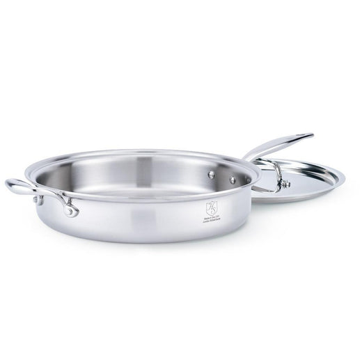 American Clad Cookware Saute & Sauteuse Pans 5 Qt. American Clad 7-ply Stainless Sauté Pan with Lid JL-Hufford