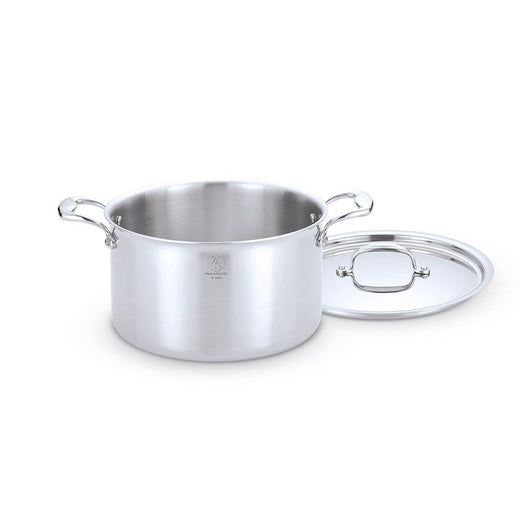 American Clad Cookware Stockpots & Soup Pots 8 Qt. American Clad 7-ply Stainless Stock Pot JL-Hufford