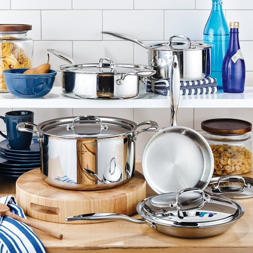 American Clad 7-ply Stainless 5-Piece Cookware Set