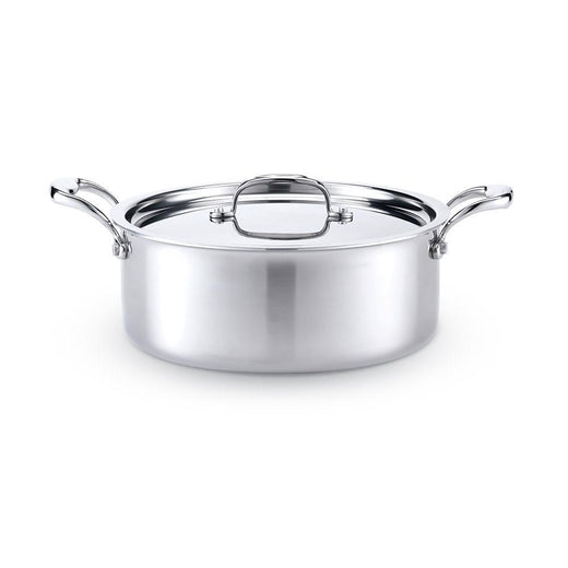 American Clad Cookware Dutch Ovens and Braisers American Clad 7-ply Stainless Rondeau with Lid - 6 Qt. JL-Hufford