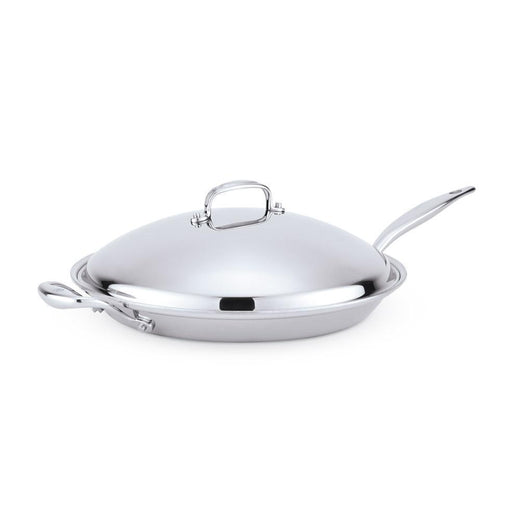 "American Clad Cookware Skillets & Frying Pans With Lid American Clad 7-ply Stainless 13.5"" French Skillet JL-Hufford"