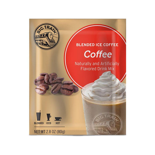 Big Train Blended Coffee Frappe Coffee Big Train Blended Ice Coffee Single Servings 25 Pack JL-Hufford