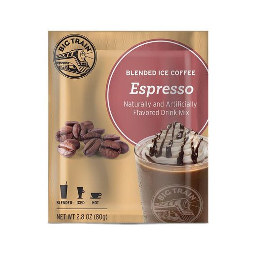 Big Train Blended Coffee Frappe Espresso Big Train Blended Ice Coffee Single Servings 25 Pack JL-Hufford
