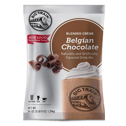 Big Train Blended Creme Frappe Individual Big Train Blended Creme 3.5 lb Bag - Belgian Chocolate JL-Hufford