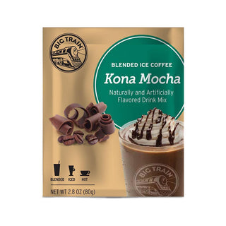 Big Train Blended Coffee Frappe Kona Mocha Big Train Blended Iced Coffee Single Serving JL-Hufford