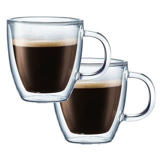 Bodum Double Walled Glassware Bodum Bistro Coffee 10 oz Double Wall Glass Set of 2 JL-Hufford