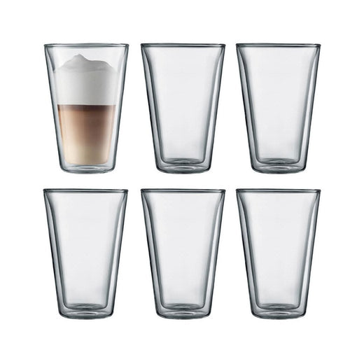 Bodum Double Walled Glassware Bodum Canteen 13.5 oz Double Wall Glassware, Set of 6 JL-Hufford