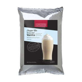 Cappuccine Blended Coffee Frappe Individual Cappuccine Frappe Mix - No Sugar Added Vanilla JL-Hufford