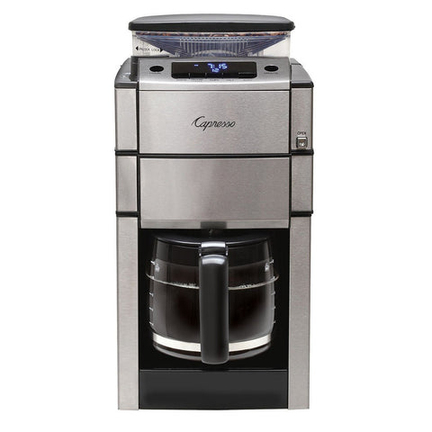 Capresso CoffeeTEAM PRO Plus Glass Coffee Maker with Grinder