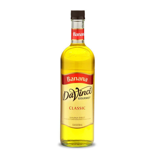 DaVinci Syrups and Sauces Banana DaVinci Classic Syrups - 750 mL Glass Bottle JL-Hufford