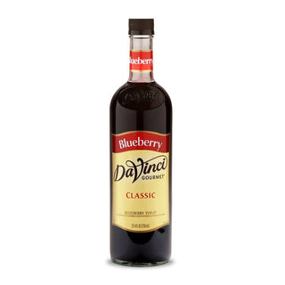 DaVinci Syrups and Sauces Blueberry DaVinci Classic Syrups - 750 mL Glass Bottle JL-Hufford
