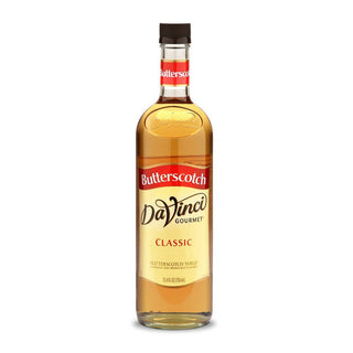 DaVinci Syrups and Sauces Butterscotch DaVinci Classic Syrups - 750 mL Glass Bottle JL-Hufford