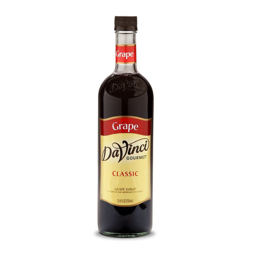 DaVinci Syrups and Sauces Grape DaVinci Classic Syrups - 750 mL Glass Bottle JL-Hufford