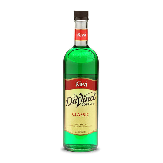 DaVinci Syrups and Sauces Kiwi DaVinci Classic Syrups - 750 mL Glass Bottle JL-Hufford