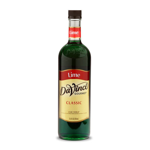 DaVinci Syrups and Sauces Lime DaVinci Classic Syrups - 750 mL Glass Bottle JL-Hufford