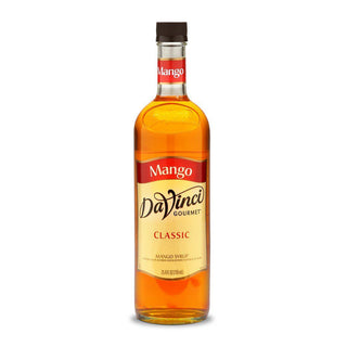 DaVinci Syrups and Sauces Mango DaVinci Classic Syrups - 750 mL Glass Bottle JL-Hufford