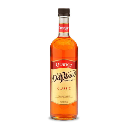 DaVinci Syrups and Sauces Orange DaVinci Classic Syrups - 750 mL Glass Bottle JL-Hufford