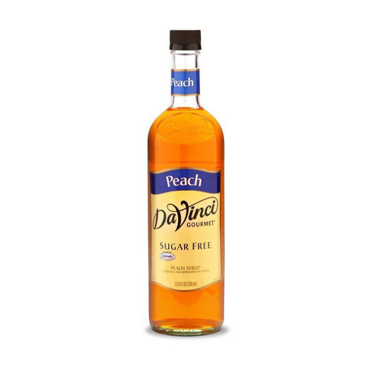 DaVinci Syrups and Sauces Peach Davinci Gourmet Sugar Free Syrups - 750 mL Glass Bottle JL-Hufford