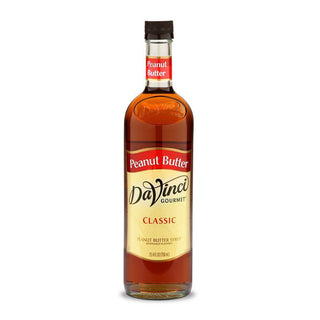 DaVinci Syrups and Sauces Peanut Butter DaVinci Classic Syrups - 750 mL Glass Bottle JL-Hufford