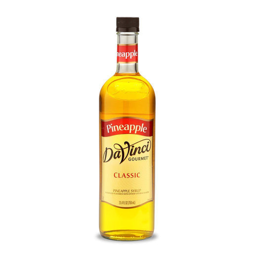 DaVinci Syrups and Sauces Pineapple DaVinci Classic Syrups - 750 mL Glass Bottle JL-Hufford