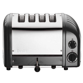 Dualit Toasters & Ovens Metallic Charcoal Dualit New Generation 4 Slice Toaster JL-Hufford