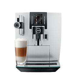 Jura+Super+Automatic+Espresso+Machines+Jura+J6+Automatic+Coffee+Center+with+P.E.P.+-+Brilliant+Silver+JL-Hufford